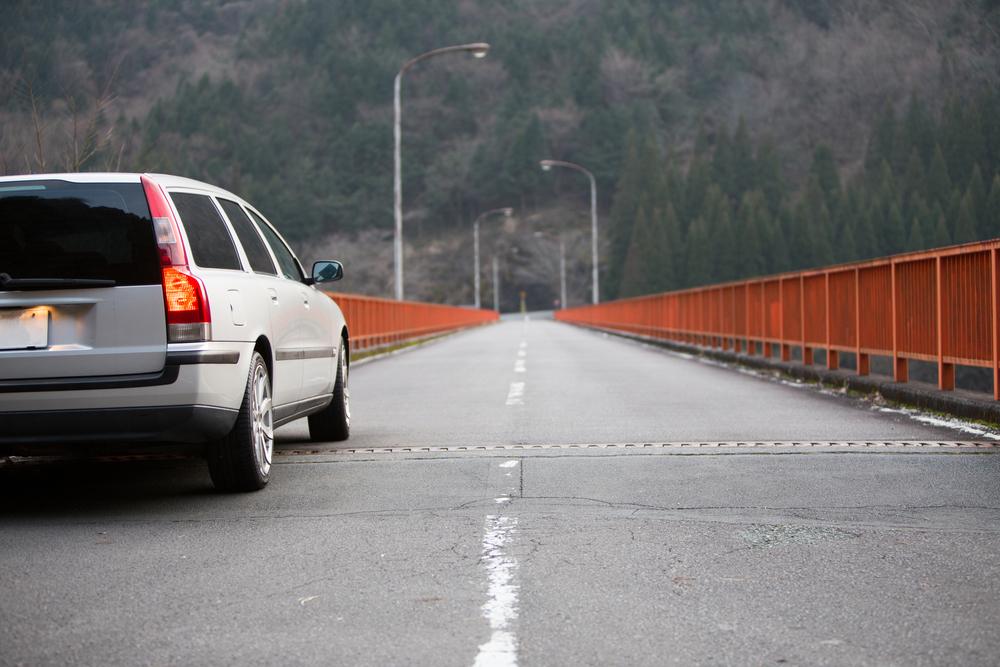 Bridge and car