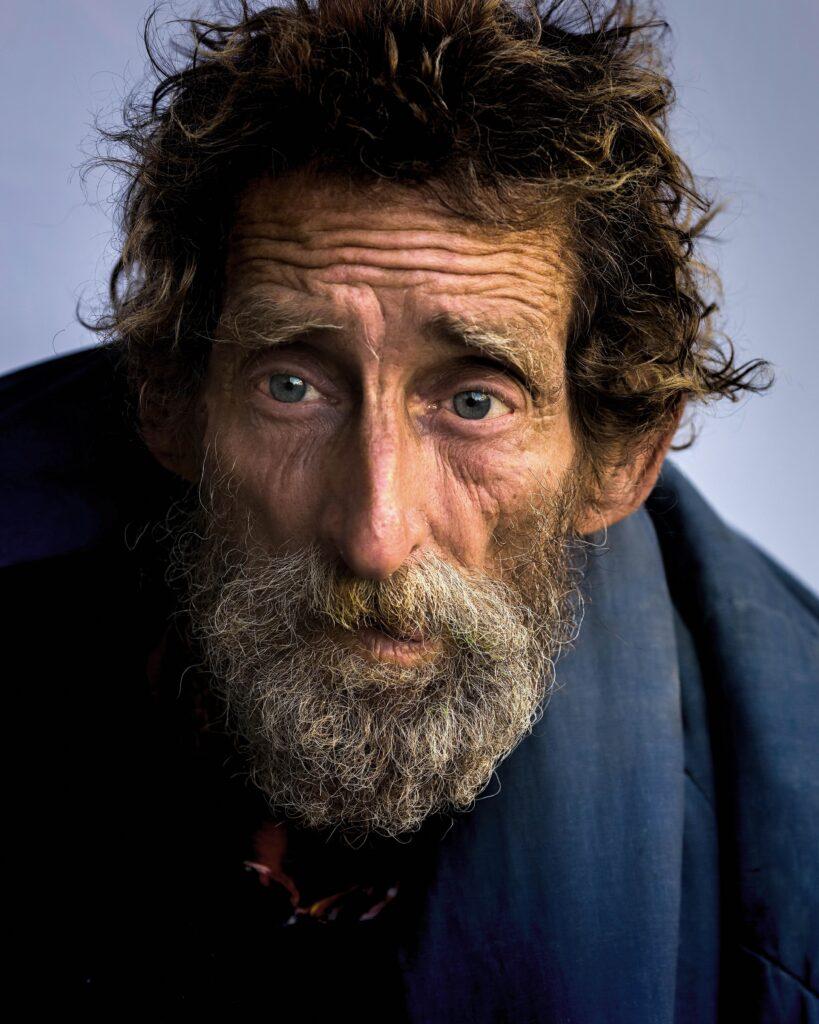 man, portrait, homeless