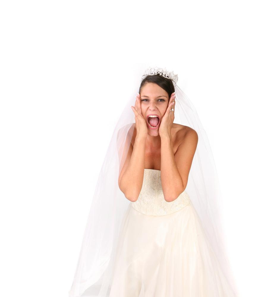 Bride Going Crazy on Her Wedding Day